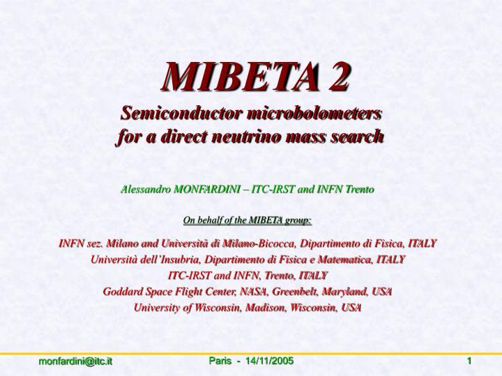 MIBETA 2