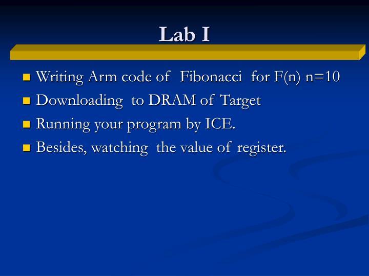 Lab I