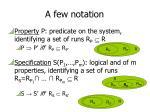 a few notation