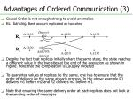 advantages of ordered communication 3