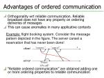 advantages of ordered communication