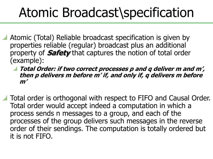 Atomic Broadcast\specification