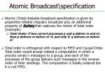 atomic broadcast specification