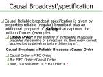 causal broadcast specification