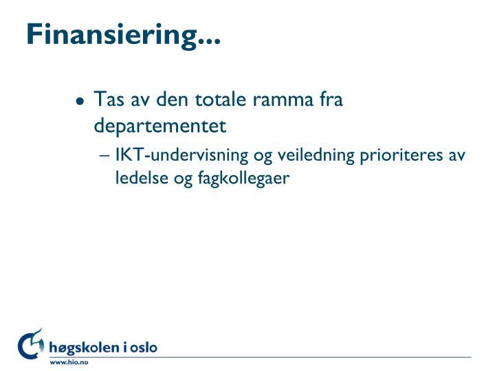 Finansiering...