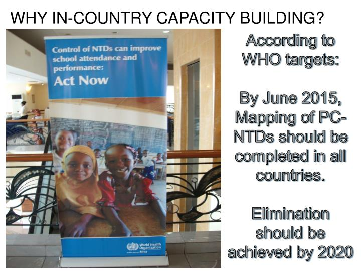 WHY IN-COUNTRY CAPACITY BUILDING?
