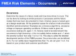 fmea risk elements occurrence
