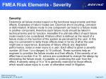 fmea risk elements severity
