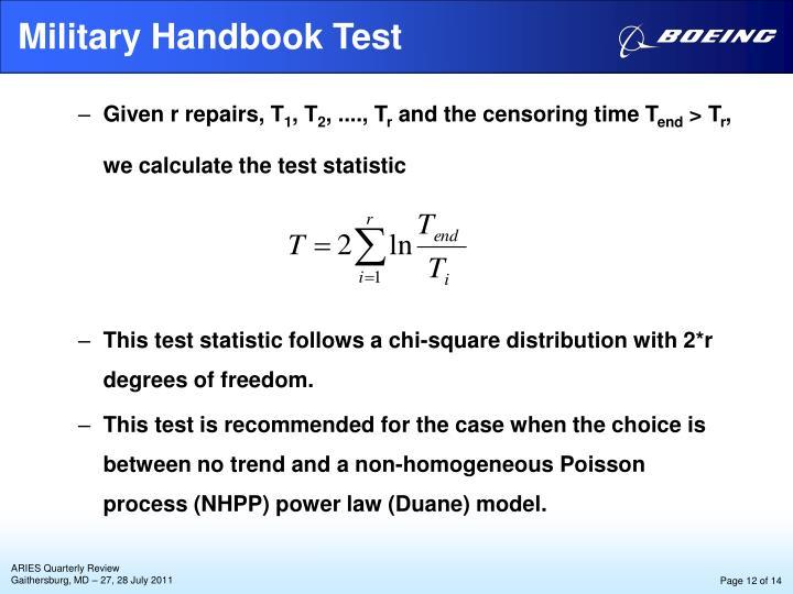 Military Handbook Test