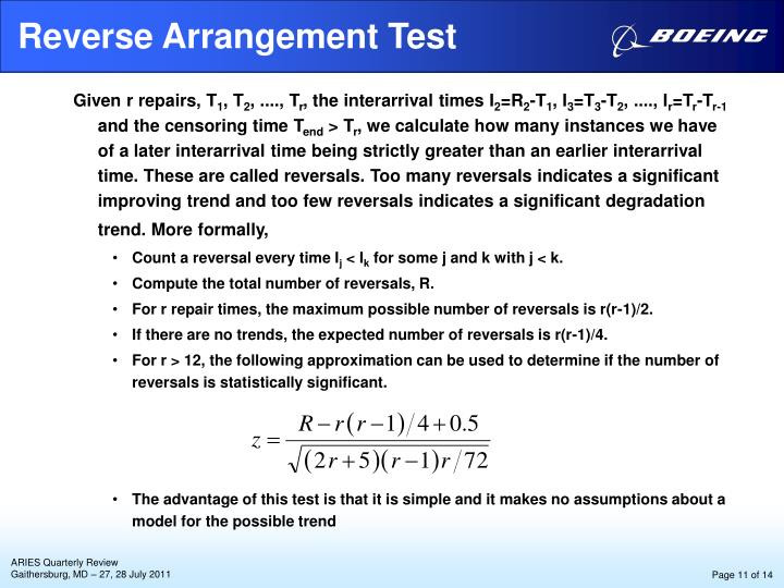 Reverse Arrangement Test