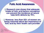 folic acid awareness