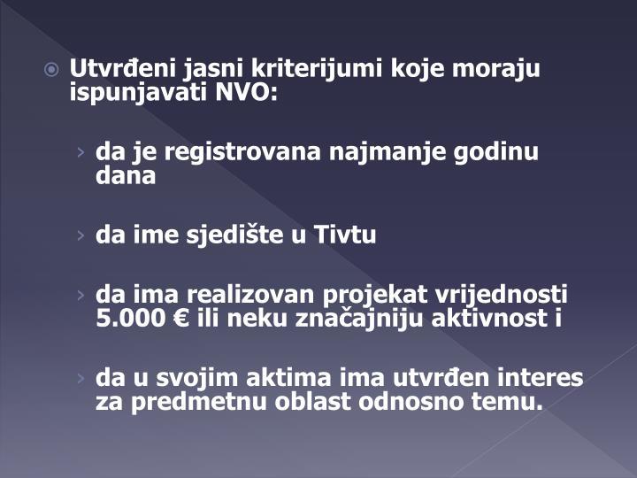 Utvrđeni jasni kriterijumi koje moraju ispunjavati NVO: