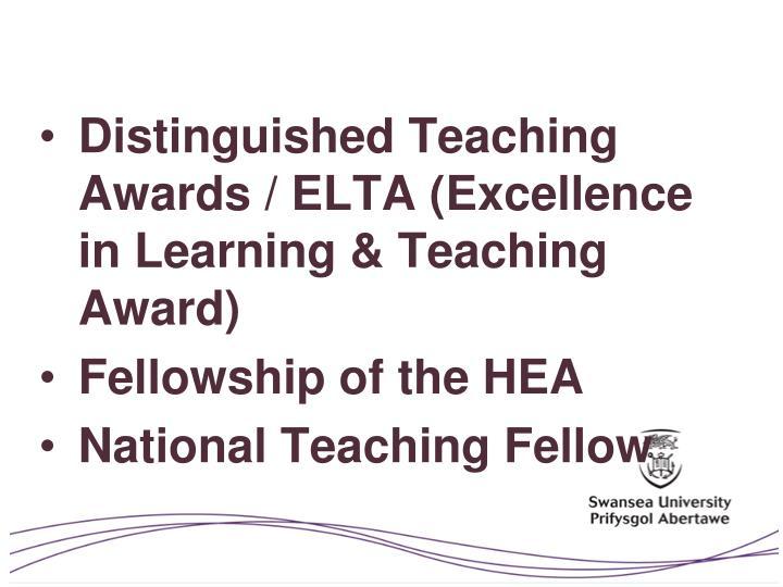 Distinguished Teaching