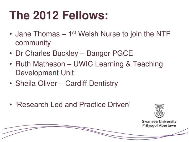 The 2012 Fellows: