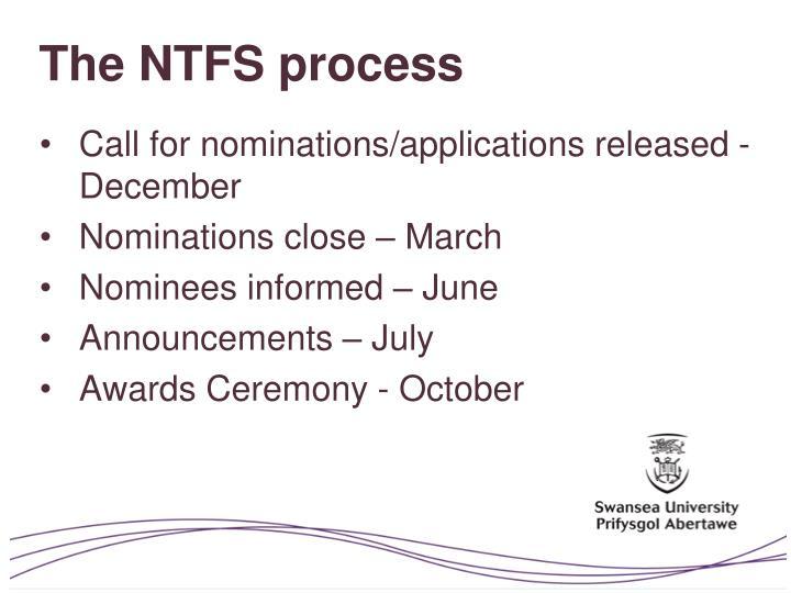 The NTFS process