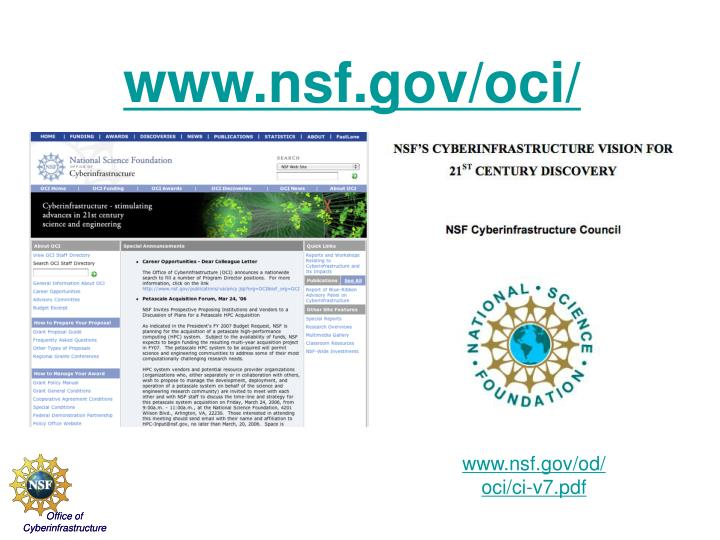 OCI Website - Visit often and provide feedback on the Vision document.