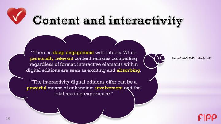 Content and interactivity