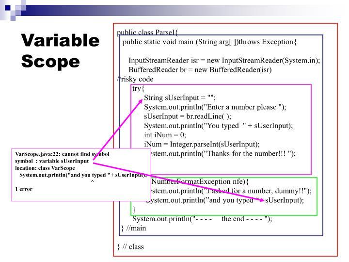 VarScope.java:22: cannot find symbol