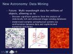 new astronomy data mining