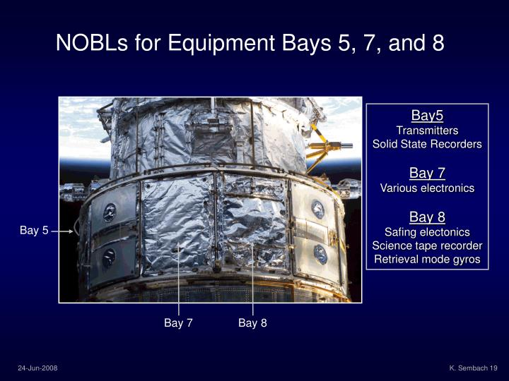 NOBLs for Equipment Bays 5, 7, and 8