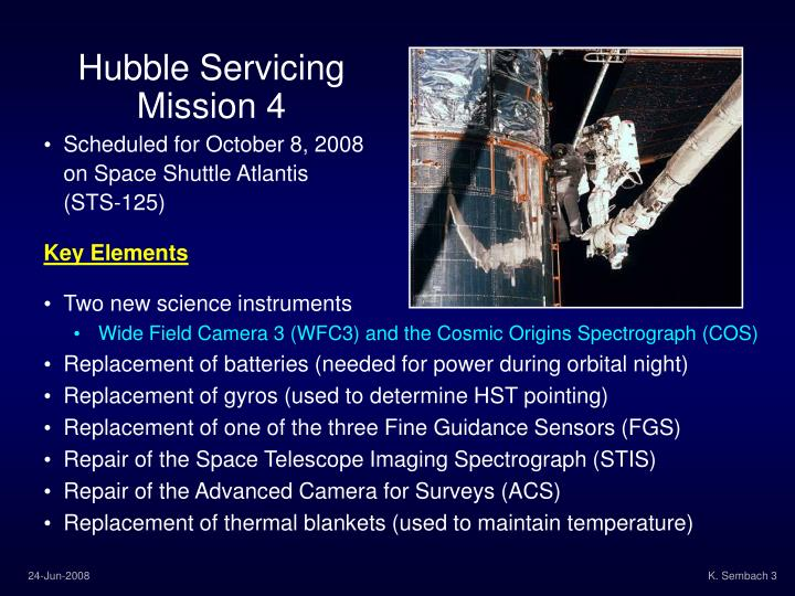 Hubble Servicing