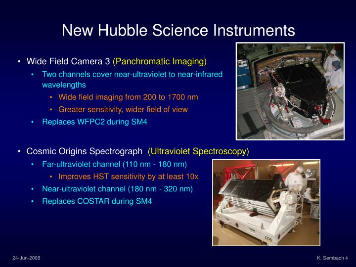 New Hubble Science Instruments