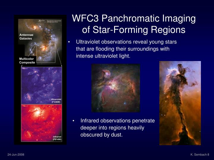 WFC3 Panchromatic Imaging of Star-Forming Regions