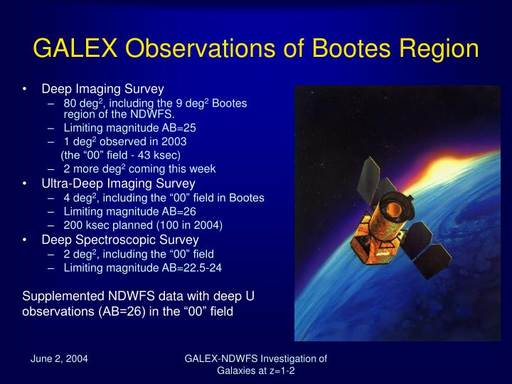 GALEX Observations of Bootes Region