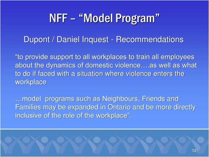 "NFF – ""Model Program"""