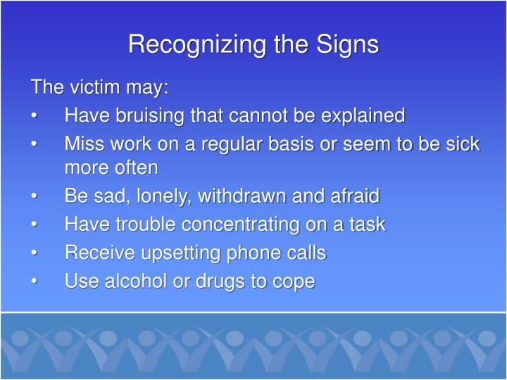 Recognizing the Signs