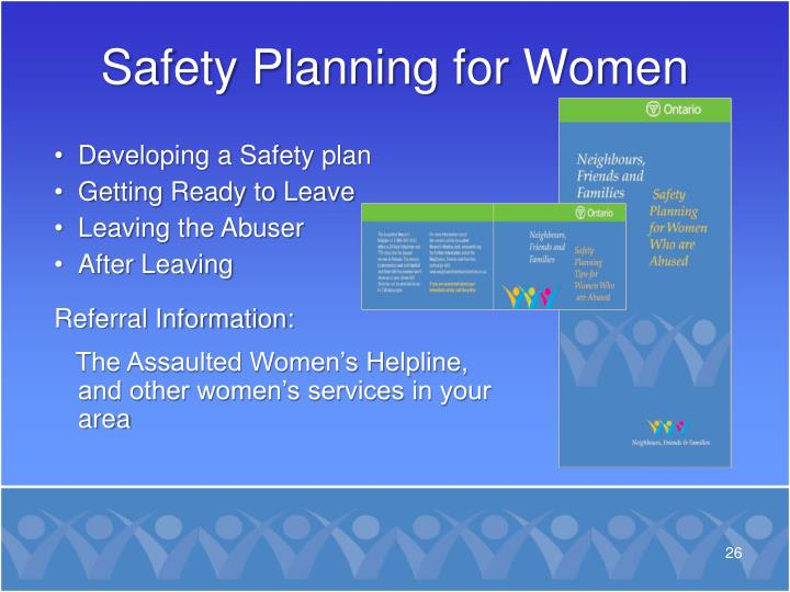 Safety Planning for Women