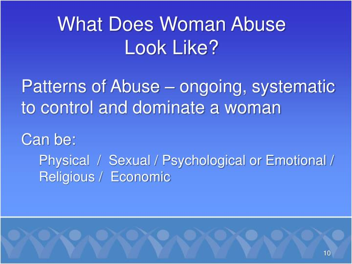 What Does Woman Abuse