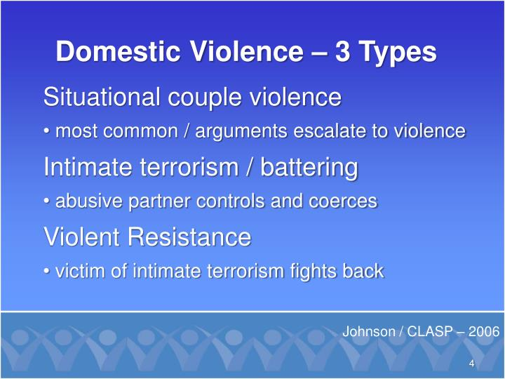 Domestic Violence – 3 Types