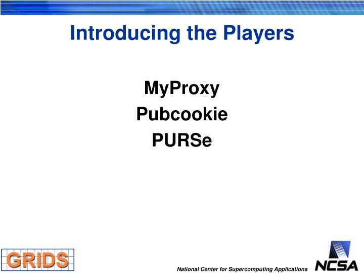 Introducing the Players