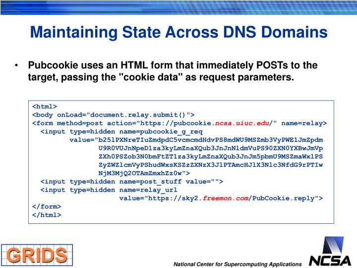 Maintaining State Across DNS Domains