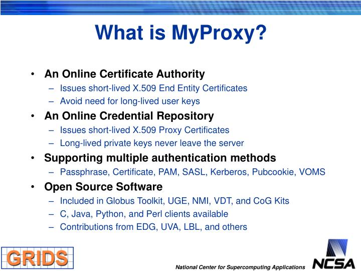 What is MyProxy?