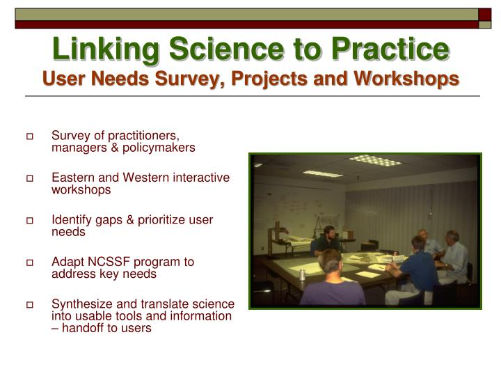 Survey of practitioners, managers & policymakers