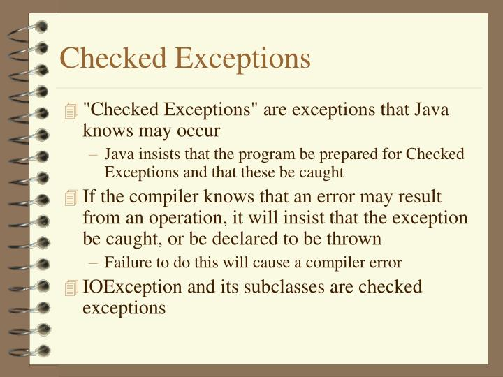 Checked Exceptions