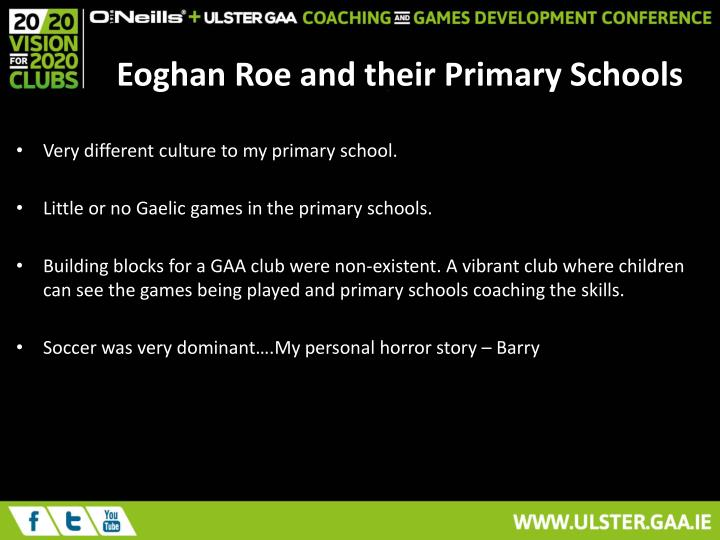 Eoghan Roe and their Primary Schools