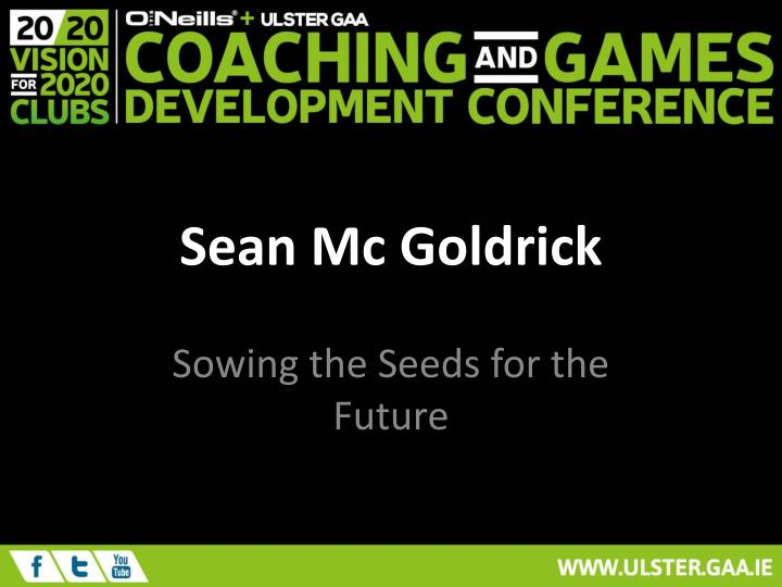 Sean Mc Goldrick