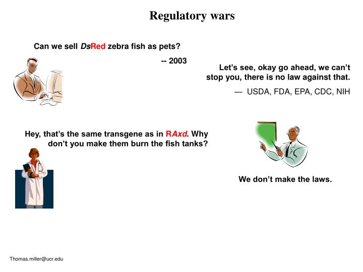 Regulatory wars