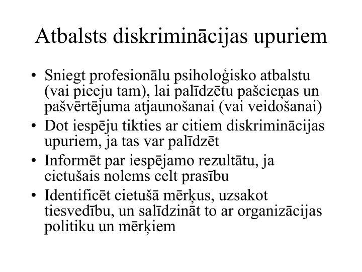 Atbalsts diskriminācijas upuriem