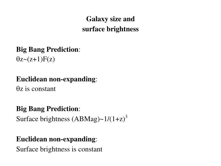 Galaxy size and