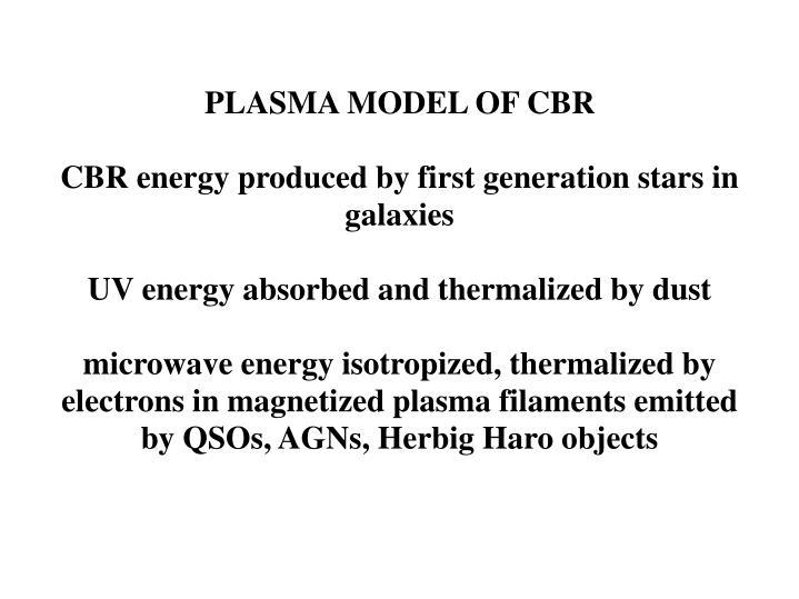 PLASMA MODEL OF CBR