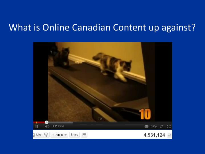 What is Online Canadian Content up against?