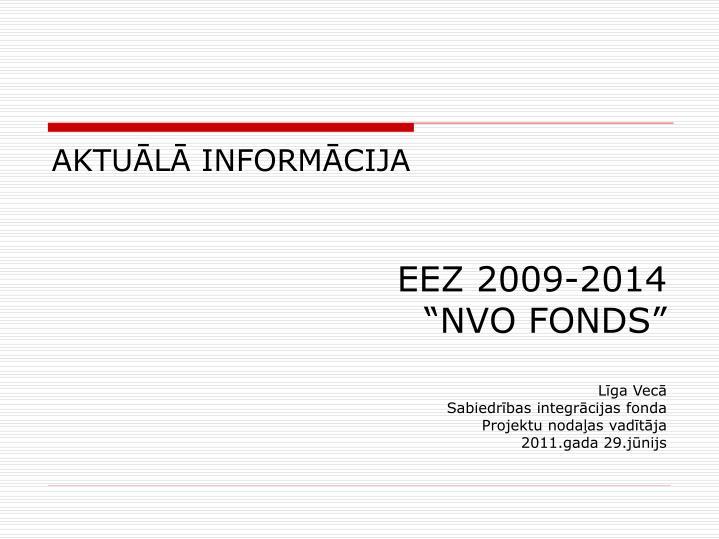 EEZ 2009-2014