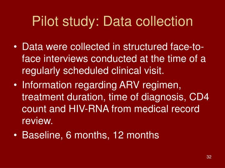 Pilot study: Data collection