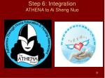 step 6 integration athena to ai sheng nuo