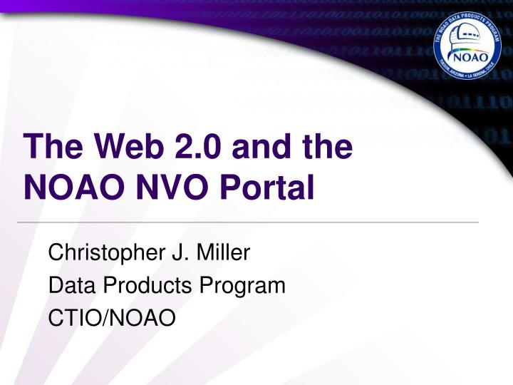 the web 2 0 and the noao nvo portal