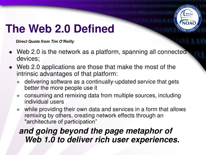 The web 2 0 defined